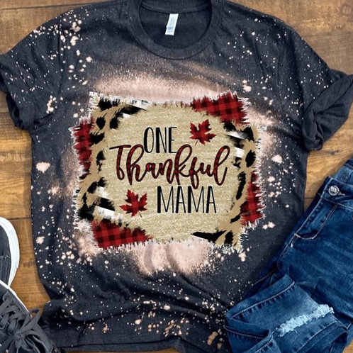 BLEACHED TEE Short or Long Sleeve One Thankful Mama