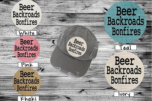 Sublimated Trucker Hats Many Colors Beer Backyards Bonfires