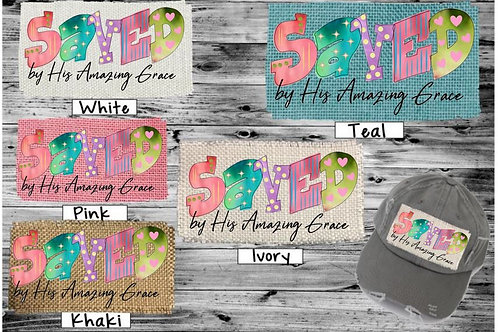 Sublimated Trucker Hats Many Colors Saved by His Amazing Grace
