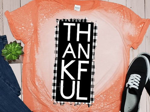 BLEACHED TEE Short or Long Sleeve Thankful Square