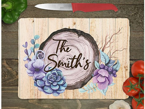 SUBLIMATED Glass Cutting Board Personalized SMALL or LARGE Stump