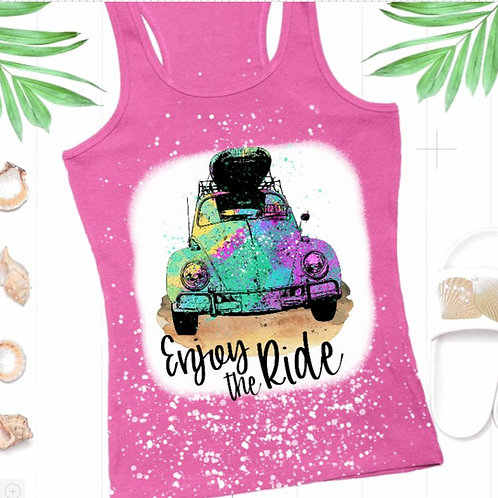 BLEACHED TANK TOP or TEE Enjoy The Ride
