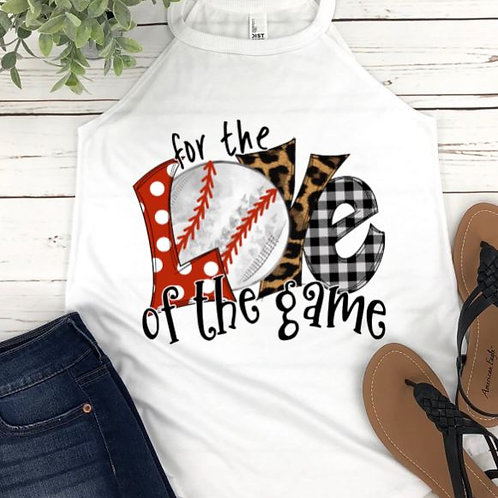 SUBLIMATED TEE Rocker Tank Top Baseball For the Love of the Game