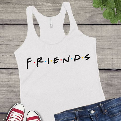 Tank Top SUBLIMATED GRAPHIC SHIRT FRIENDS