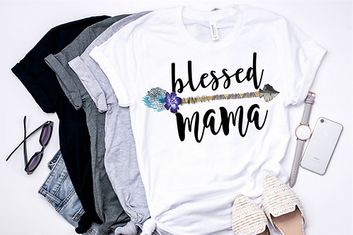SUBLIMATED TRANSFER ONLY Blessed Mama Fancy Arrow