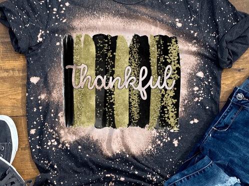 BLEACHED TEE Short or Long Sleeve Thankful Backsplash Black Gold