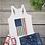 Thumbnail: Tank Top GRAPHIC SHIRT Leopard Flag Turquoise Pink