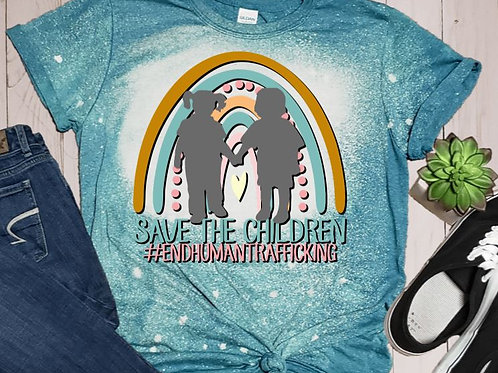 BLEACHED TEE Short or Long Sleeve Save the Children Silhouette