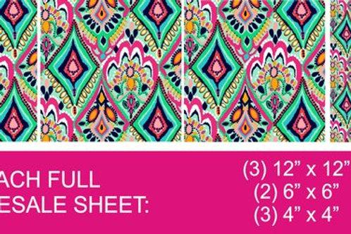 "Lily Pulitzer Adhesive Vinyl (3)12""x12"" (2)6""x 6""(3) 4""X4"" Many Patterns"