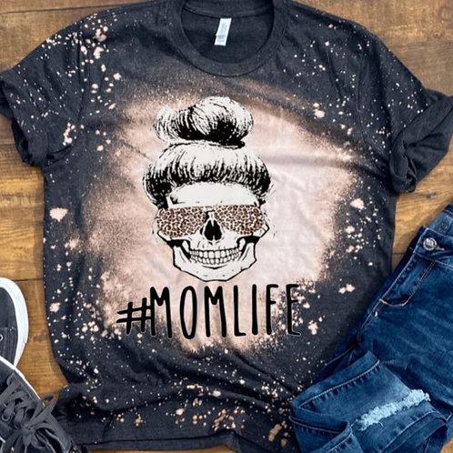BLEACHED TEE Short or Long Sleeve Mom Life Skeleton