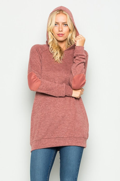 Hoodie Sweatshirt Elbow Patched long sleeve Sweatshirt All Colors S - XL