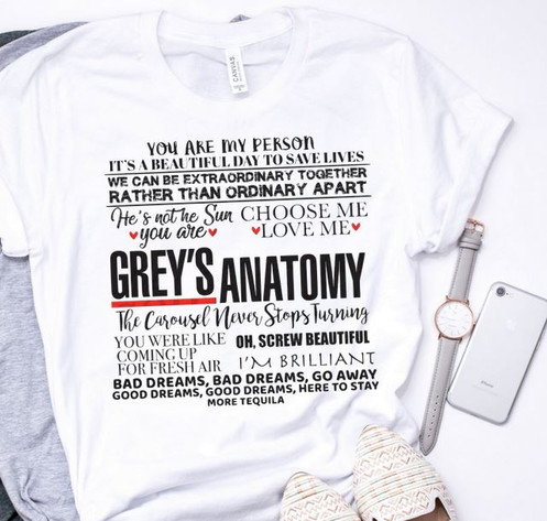 ae003444aeb SUBLIMATED TEE Grey's Anatomy Choose You Color Shirt: (as in pic) Put in  the custom box or put as pictured! Remember on Sublimated Tees do not  choose darker ...