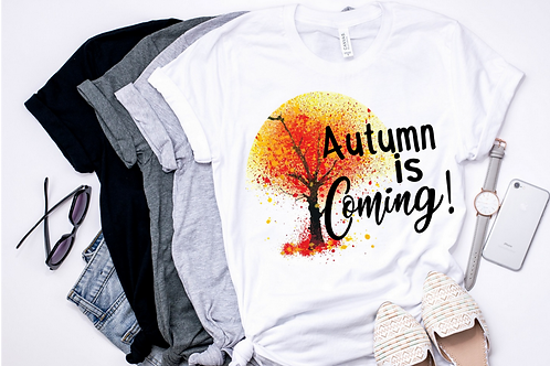 SUBLIMATED TEE Short Sleeve Autumn Is Coming