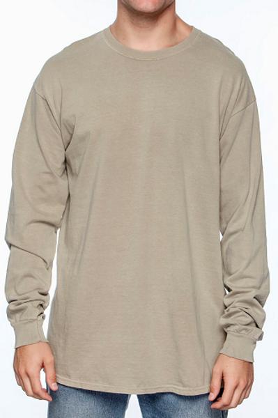 Comfort Colors Unisex Adult Long Sleeve Tee Khaki
