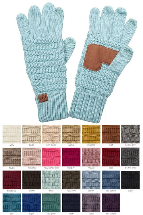 CC Knitted Touch Screen Compatible Gloves Many Colors