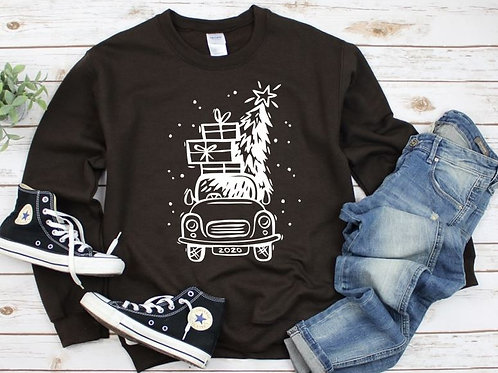 Long Sleeve Bella Christmas Truck