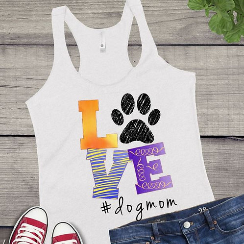 Tank Top SUBLIMATED GRAPHIC SHIRT Dog Mom LOVE Doodle