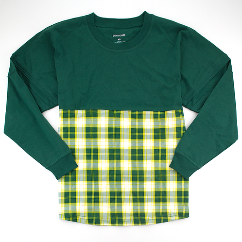 Boxercraft Pom Pom Jersey Adult or Youth Plaid Green/Yellow