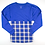 Thumbnail: Boxercraft Pom Pom Jersey Adult or Youth Plaid Royal/White