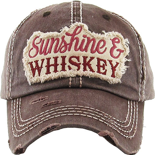 Caps Women's Hat Sunshine Whiskey Many Colors