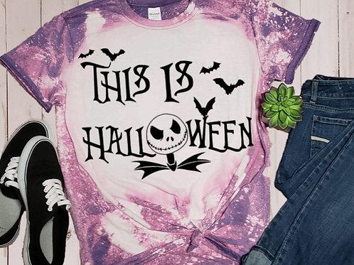 BLEACHED TEE Short or Long Sleeve Jack This is Halloween