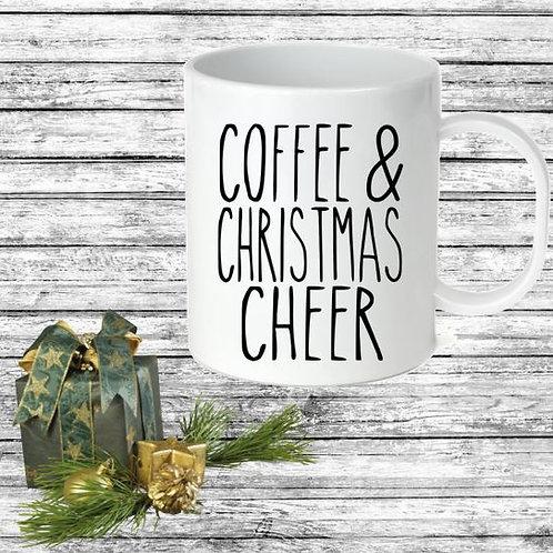 SUBLIMATED Coffee Mug - COFFEE&CHRISTMAS CHEER