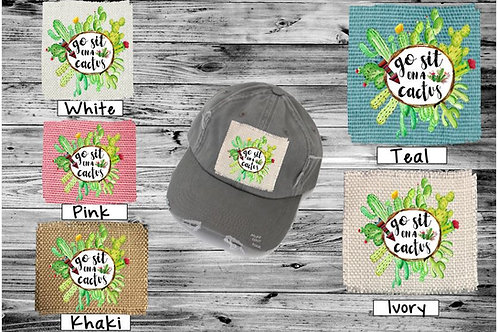 Sublimated Trucker Hats Many Colors Go Sit on a Cactus