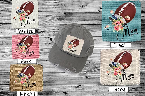 Sublimated Trucker Hats Many Colors Football Mom Flowers