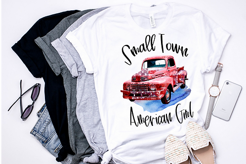 SUBLIMATED TRANSFER ONLY  Small Town American Girl