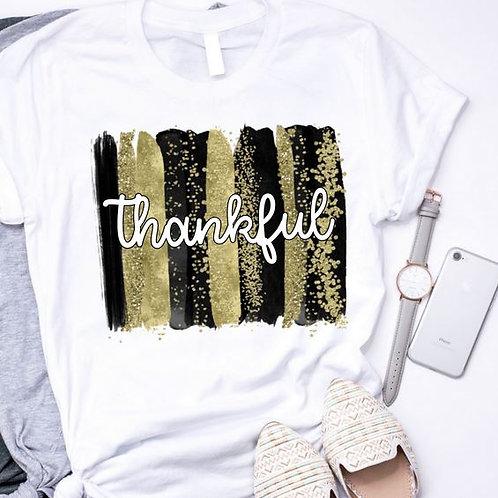 SUBLIMATED TRANSFER ONLY Thankful Backsplash Black Gold