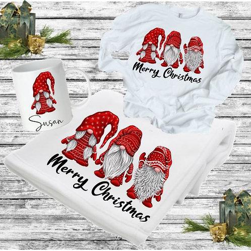 SUBLIMATED BLANKET SET - Blanket, Mug Long Sleeve Tee Gnomes
