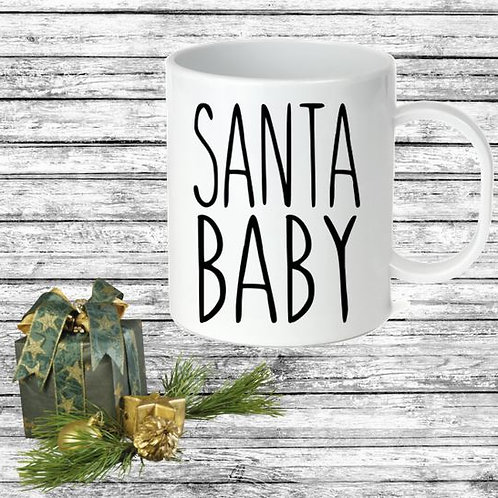 SUBLIMATED Coffee Mug - SANTA BABY