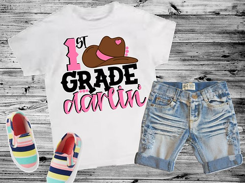 SUBLIMATED TRANSFER ONLY Back to School Darlin ANY GRADE