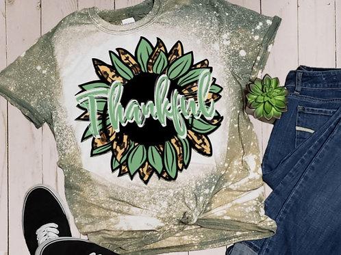 BLEACHED TEE Short or Long Sleeve Thankful Sunflower Green