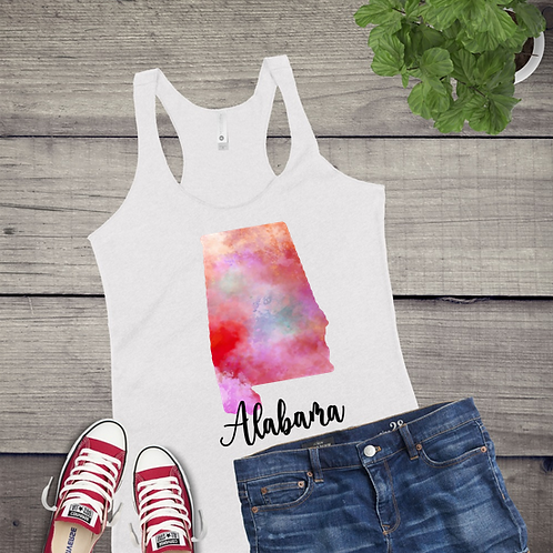 Tank Top STATE GRAPHIC SUBLIMATED SHIRT Watercolor Pattern