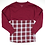 Thumbnail: Boxercraft Pom Pom Jersey Adult or Youth Plaid Burgundy/White