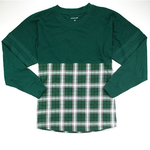 Boxercraft Pom Pom Jersey Adult or Youth Plaid Green/White
