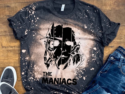 BLEACHED TEE Short or Long Sleeve The Maniacs