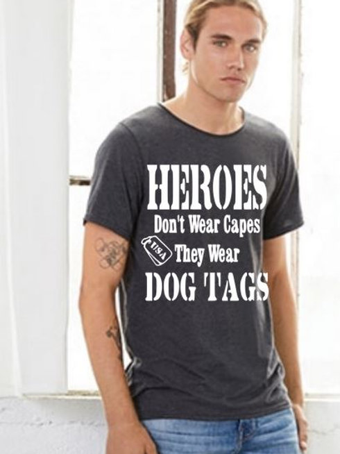 SHORT SLEEVE GRAPHIC TEES SHIRT Heros Don't Wear Capes