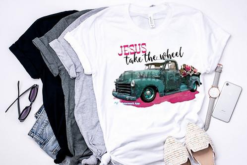 SUBLIMATED TEE Jesus Take the Wheel