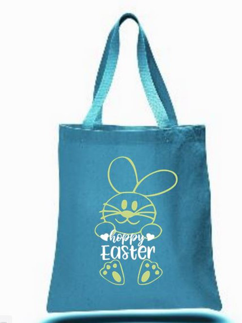 Easter Basket Tote Bags Canvas Colored Bags All Colors Style #2