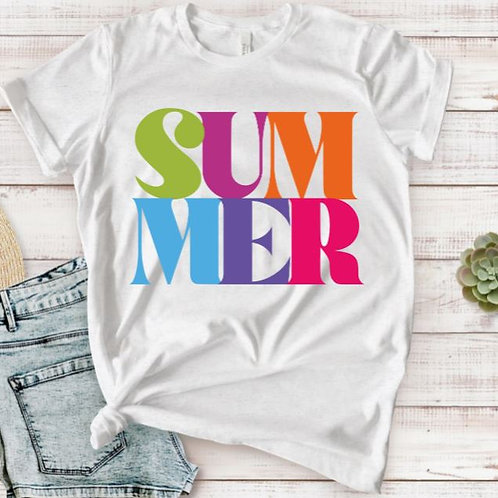 TEE Short Sleeve or Tank SUMMER MANY COLORS A