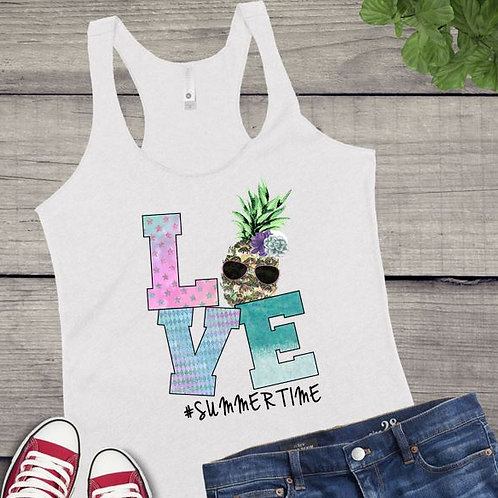 Tank Top SUBLIMATED GRAPHIC SHIRT LOVE Summertime Pineapple