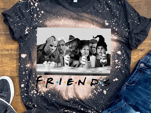 BLEACHED TEE Short or Long Sleeve Friends