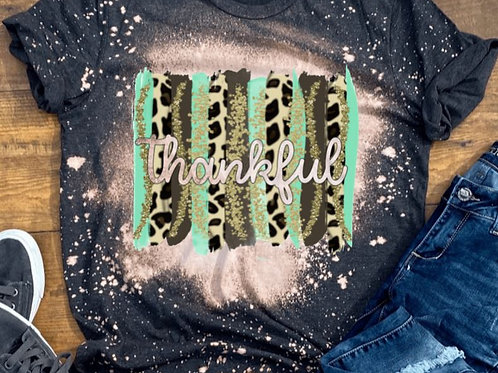 BLEACHED TEE Short or Long Sleeve Thankful Backsplash Mint
