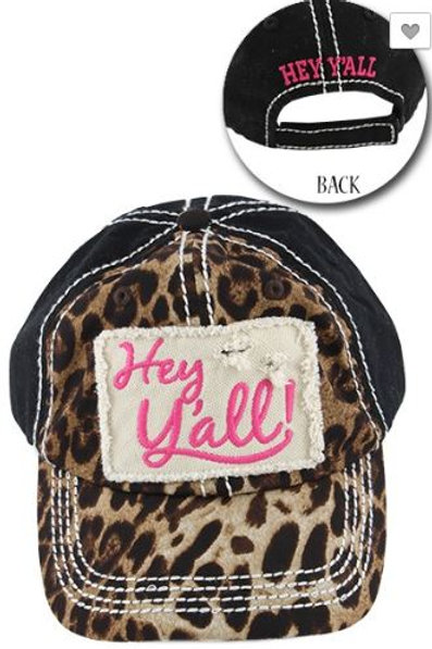 Hey Y'all Leopard Caps Women's Hat