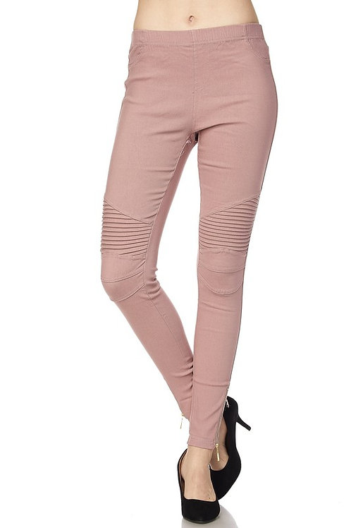 Moto Jeggings Pants with Zipper Detail S/M and L/XL