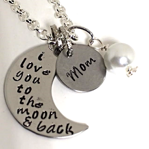I Love you to the Moon and Back Necklace or Bracelet