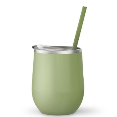 Bev Steel 12 oz Double Wall Stainless Steel Tumbler Matcha