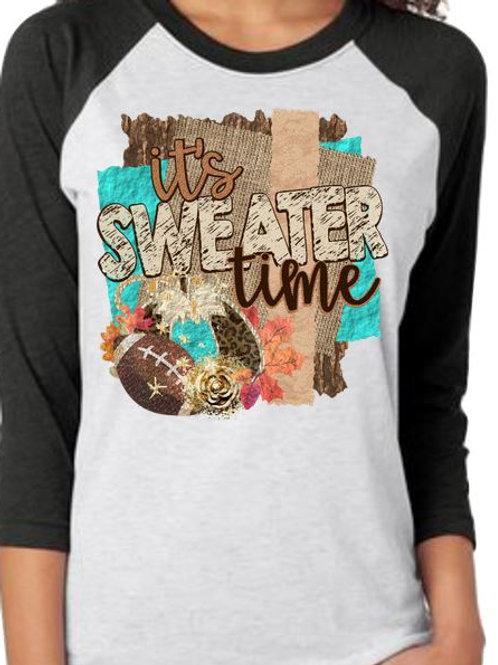 SUBLIMATED TEE RAGLAN Halloween It's Sweater Time